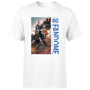 DC Fandome Batman, Wonderwoman, Superman Men's T-Shirt - White