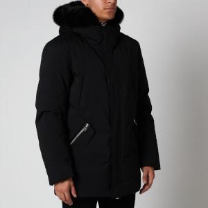 Mackage Men's Edward BX Heavy Down Fur Collar Hooded Parka - Black