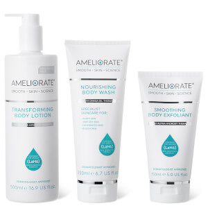 AMELIORATE Smooth Skin Supersize Bundle, Fragrance Free (Worth £69.00)