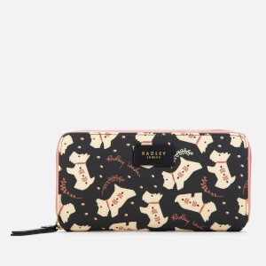 Radley Women's Dotty Dog Large Zip Around Matinee - Black