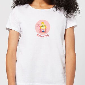 Nintendo Animal Crossing Relaxing Isabelle Women's T-Shirt - White