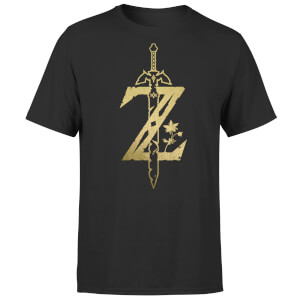 Nintendo Limited Edition Zelda Metallic Unisex T-Shirt - Black