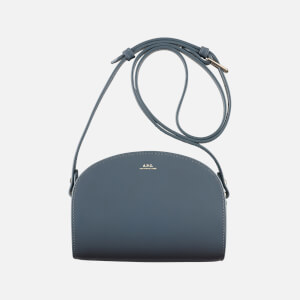 A.P.C. Women's Demi-Lune Mini Cross Body Bag - Blue