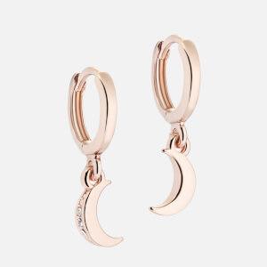 Ted Baker Women's Marlaan: Crescent Moon Huggie Earrings - Rose Gold/Crystal