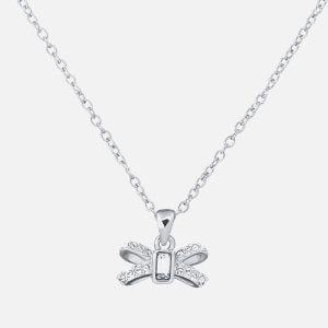 Ted Baker Women's Sabena: Crystal Sparkle Bow Tiny Pendant - Silver/Crystal