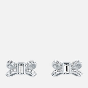 Ted Baker Women's Sabla: Crystal Sparkle Bow Stud Earrings - Silver/Crystal