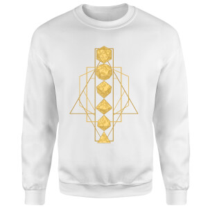 Dungeons & Dragons Celestial Dice Sweatshirt - White