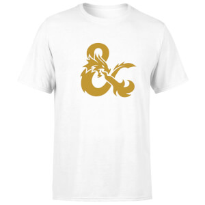 Dungeons & Dragons Ampersand Gold Herren T-Shirt - Weiß