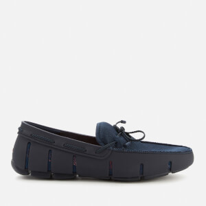 SWIMS Men's Braided Lace Loafers - Navy