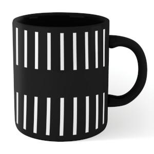 Half Stripe Mug - Black