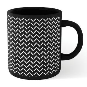 Zig Zag Full Mug - Black