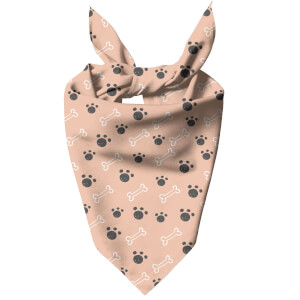 Nude Paw And Bone Dog Bandana