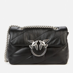 Pinko Women's Love Mini Puff Maxi Quilt Bag - Black