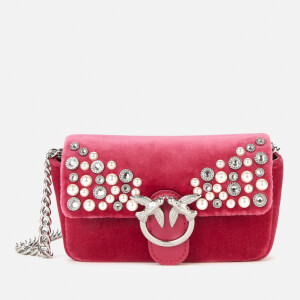 Pinko Women's Love Tiny Full Pearls Bag - Fuschia