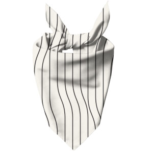 Horizontal Warped Lines Dog Bandana