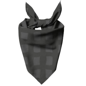 Inky Grid Dog Bandana