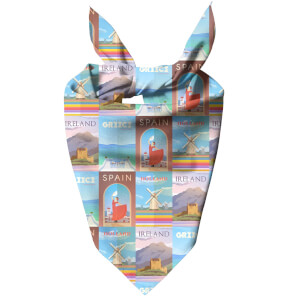 Travelling Around Europe Dog Bandana