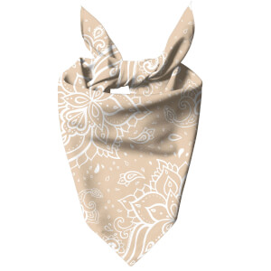 Light Biege Paisley Dog Bandana