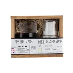 Ecooking Peeling Mask and Moisturising Mask Set (Worth £64.00)