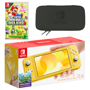 Nintendo Switch Lite (Yellow) New Super Mario Bros. U Deluxe Pack