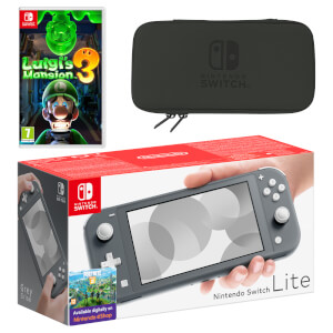Nintendo Switch Lite (Grey) Luigi's Mansion 3 Pack