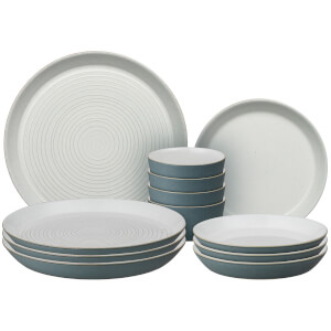 Denby Impression Charcoal 12 Piece Dining Set