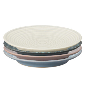 Denby Impression Mixed Accent Small Plates (Set of 4)