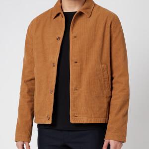 YMC Men's Garment Dye Checker Cord Groundhog Jacket - Brown