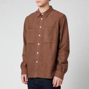 PS Paul Smith Men's Chest Pockets Casual Fit Shirt - Chocolate