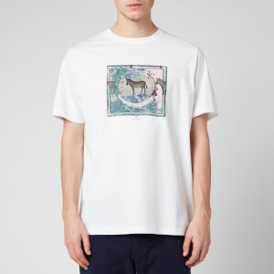 PS Paul Smith Men's Zebra Box Regular Fit T-Shirt - White