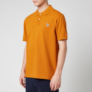 PS Paul Smith Men's Zebra Logo Regular Fit Polo Shirt - Orange