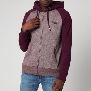 Superdry Men's Orange Label Classic Raglan Zip Hoodie - Academy Port
