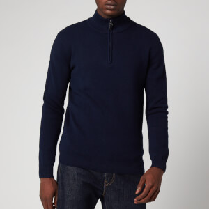 Superdry Men's Orange Label Henley Jumper - Dark Navy