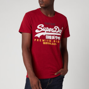 Superdry Men's Vintage Logo Tri T-Shirt - Chilli Pepper Marl