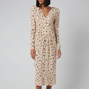 ROTATE Women's Heather Dress - Raspberry AOP