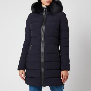 Mackage Women's Calla-Bx Light Down Coat with Hood - Navy