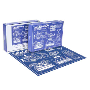 Dust! Back To The Future DeLorean Schematic 1000pc Puzzle - Zavvi Exclusive