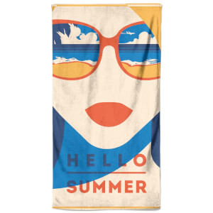 Hello Summer Shade Beach Towel