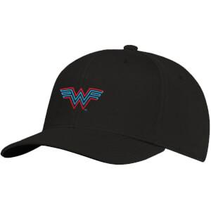 Cappello con visiera con Ricamo Wonder Woman Logo - Nero