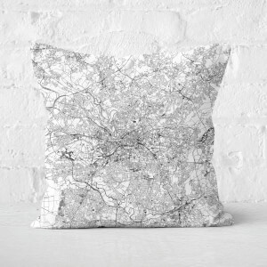 Manchester City Map Square Cushion