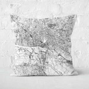 Hamburg City Map Square Cushion
