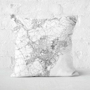 Cardiff City Map Square Cushion