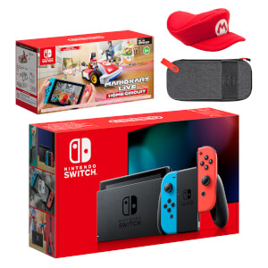 Nintendo Switch (Neon Blue/Neon Red) Mario Kart Live: Home Circuit - Mario Set Pack