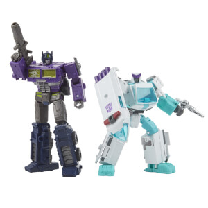 Hasbro Transformers Generations Selects Deluxe WFC-GS17 Shattered Glass Ratchet and Optimus Prime Action Figure 2 Pack