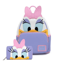 Loungefly Disney Daisy Duck Cosplay Mini Backpack and Wallet Set
