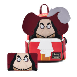 Loungefly Disney Peter Pan Captain Hook Cosplay Mini Backpack and Wallet Set