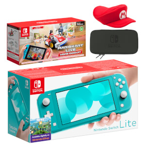 Nintendo Switch Lite (Turquoise) Mario Kart Live: Home Circuit - Mario Set Pack