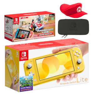 Nintendo Switch Lite (Yellow) Mario Kart Live: Home Circuit - Mario Set Pack