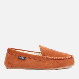 Polo Ralph Lauren Men's Dezi Iv Suede Mocassin Slippers - Snuff