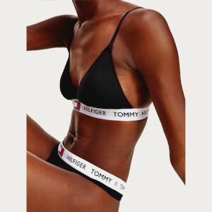 Tommy Hilfiger Women's Padded Triangle Bra - Black